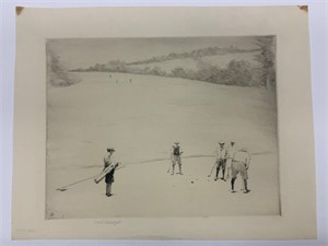 Image of [Golfers on Putting Green]