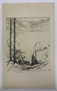 Image of [Untitled, Skaters on a Pond]
