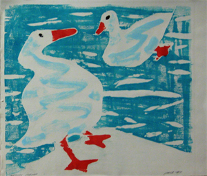 Image of Untitled [Two White Geese]