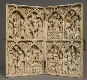 Image of Diptych: Scenes from the Life of Christ and the Virgin